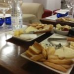 tasting  3 wines  and 3  'toledanos' cheeses